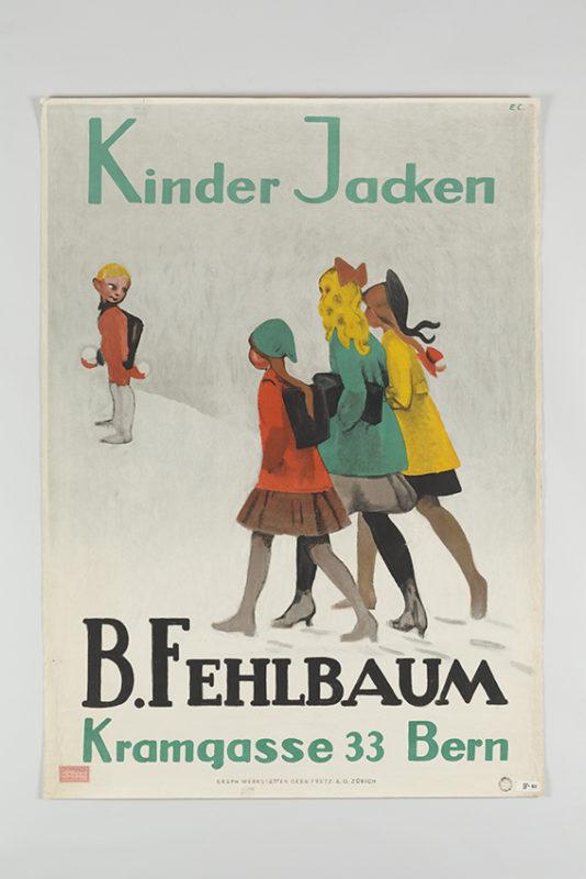 Kinder Jacken, B. Fehlbaum, Kramgasse 33 Bern