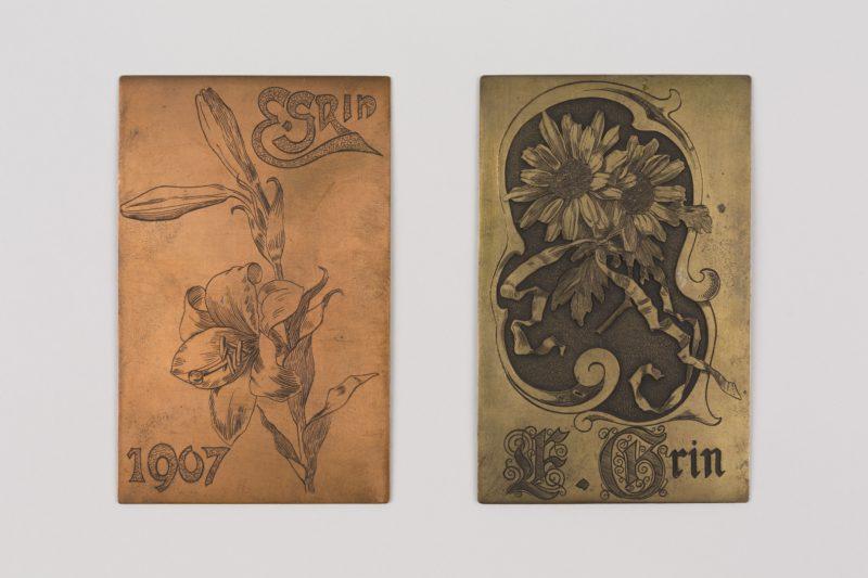 Gravierschule Technikum Biel: Fünf Ornamentbleche/Cinq matrices ornementales (1902/03)