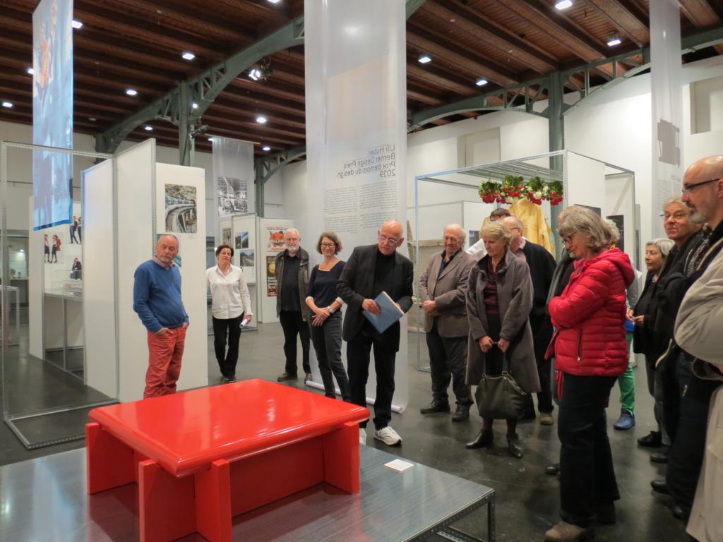Exklusiver Anlass für den Freundeskreis der Berner Design Stiftung: Uli Huber führt durch die Bestform 2019.