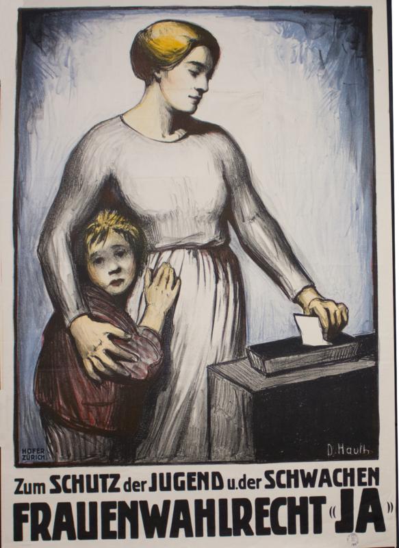 Plakat von Dora Hauth-Trachsel, 1920, Staatsarchiv des Kantons Bern
