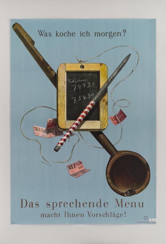 Plakat von Herbert Leupin, 1943. Foto: Chris Richter