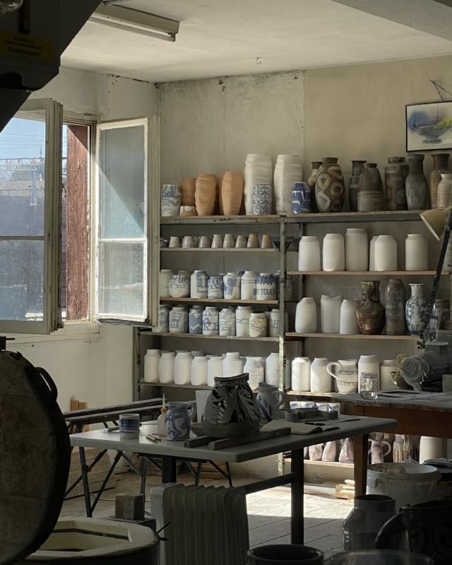 Das Atelier von Keramikdesigner Janis Marti